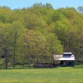 Plum Hollow Sugar Shack In Spring by Valerie Kirkwood