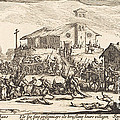 Plundering And Burning A Village by Jacques Callot