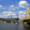 Pnc Park And Roberto Clemente Bridge Pittsburgh Pa by Kristen Vota