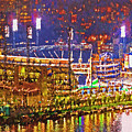 Pnc Park On A Light Up Night by Digital Photographic Arts