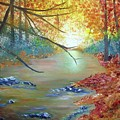 Pocono Creek In Autumn by Nancy Craig