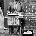 Poet For Hire, Portland, Maine  -31172-bw by John Bald