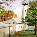 Point Aux Barques Lighthouse - Port Hope Mi by Larry Hamilton
