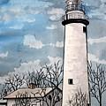Point Aux Barques Lighthouse by Derek Mccrea