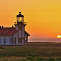 Point Cabrillo Light - Sunset by Harold Rau