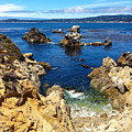 Point Lobos Whalers Cove- Seascape Art by Kathy  Symonds