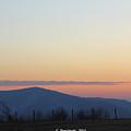 Point Mountain Sun Set by Carolyn Postelwait