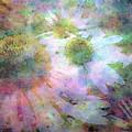 Pointillism Coneflowers 3571 Idp_3 by Steven Ward