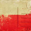 Poland Flag Postcard by Setsiri Silapasuwanchai