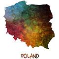 Poland Map Polska Map by Justyna JBJart