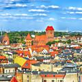 Poland, Torun, Urban Landscape. by Adriano Bussi