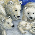 Polar Bears At Play In The Arctic by Tanna Lee M Wells