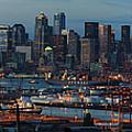 Polar Pioneer Docked In Seattle by Mike Reid