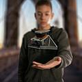 Polaroid Sx-70 On The Brooklyn Bridge by Gavin Farrell