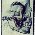 Polaroid Transfer Skull Anatomy Teeth Skeleton Beard by Jane Linders