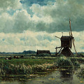 Polder Landscape With Windmill Near Aboude by Mountain Dreams