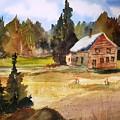 Polebridge Mt Cabin by Larry Hamilton