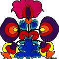 Polish Folk Art Flower I by Ania M Milo