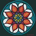 Polish Folk Art Flower II by Ania M Milo