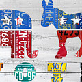 Political Party Election Vote Republican Vs Democrat Recycled Vintage Patriotic License Plate Art by Design Turnpike