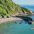 Polkerris Beach And Harbour by Hazy Apple