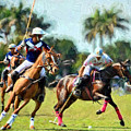 Polo Players And Ponies by Elaine Plesser