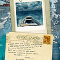 Poloroid Of Boat With Inspirational Quote by Jill Battaglia