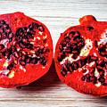 Pomegranate Cut In Half by Garry Gay