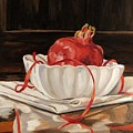 Pomegranate In White by Cheryl Pass