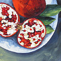 Pomegranates On A Plate  by Torrie Smiley