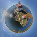 Pomham Rocks Lighthouse Little Planet by Christopher Blake