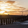 Pompano Beach Fishing Pier At Sunrise Florida Sunrise 2 by Toby McGuire