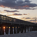 Pompano Beach Fishing Pier At Sunrise Florida by Toby McGuire