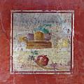 Pompeii Pomegranate Still Life Fresco 1 by Kevin Anderson