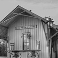 Pompton Plains Railroad Station And Baggage Cart by Christopher Lotito