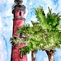 Ponce De Leon Inlet Florida Lighthouse Art by Derek Mccrea