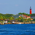 Ponce Inlet Waterfront And Lighthouse by Classic Color Creations