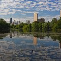 Pond And The Chicago Skyline by Sven Brogren