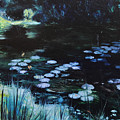 Pond At Port Meirion by Harry Robertson
