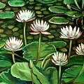 Pond Of Petals by Elizabeth Robinette Tyndall