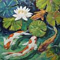 Pond Swimmers Koi by Richard T Pranke