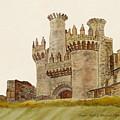 Ponferrada Templar Castle  by Angeles M Pomata