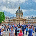 Pont Des Arts Bridge And The Institut De France  by Digital Photographic Arts