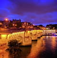 Pont Neuf At Night by Anastasy Yarmolovich