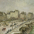 Pont Neuf Snow Effect by Camille Pissarro
