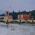 Ponte Vecchio Landscape by Lynne Reichhart