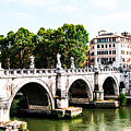Ponte Saint' Angelo, Rome by Renee Klein