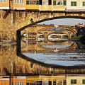 Ponte Vecchio Crossing The River A by Jeremy Woodhouse