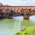 Ponte Vecchio Florence Italy II Painterly by Joan Carroll