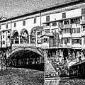 Ponte Vecchio Florence Sketch by Edward Fielding